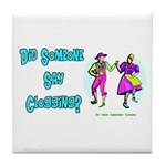 Clogging Clogger Tile Coaster