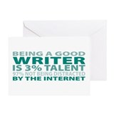 Good Writer Greeting Card