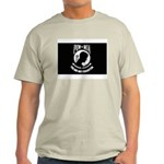 Military POW MIA Flag Ash Grey T-Shirt