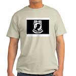 Military POW MIA Flag (Front) Ash Grey T-Shirt