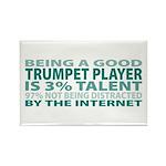 Good Trumpet Player Rectangle Magnet