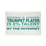 Good Trumpet Player Rectangle Magnet (10 pack)