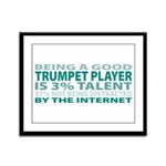 Good Trumpet Player Framed Panel Print