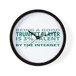Good Trumpet Player Wall Clock