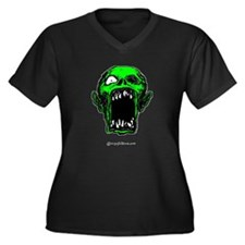 Zombie Women's Plus Size V-Neck Dark T-Shirt