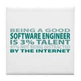 Good Software Engineer Tile Coaster