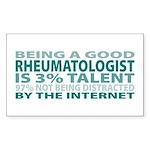Good Rheumatologist Rectangle Sticker 50 pk)