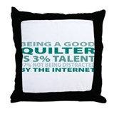 Good Quilter Throw Pillow