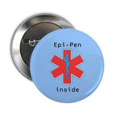 Large Blue Epi-Pen Button
