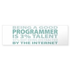 Good Programmer Bumper Bumper Sticker
