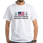 Masonic Armed Forces White T-Shirt