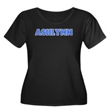 Retro Ashlynn (Blue) Women's Plus Size Scoop Neck