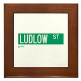 Ludlow Street in NY Framed Tile