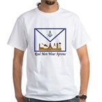 Masonic Real Men Wear Aprons White T-Shirt