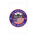 Mason Police Officer Rectangle Sticker