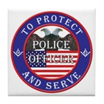 Mason Police Officer Tile Coaster