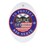 Mason Police Officer Oval Ornament