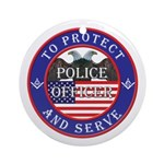 Mason Police Officer Ornament (Round)