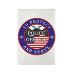 Mason Police Officer Rectangle Magnet