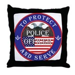 Mason Police Officer Throw Pillow