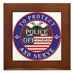 Mason Police Officer Framed Tile