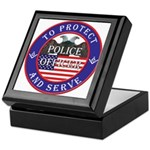 Mason Police Officer Keepsake Box
