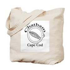 """""""Chatham, Cape Cod"""" with Clam Ring Tote Bag"""