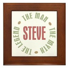 Steve Man Myth Legend Framed Tile