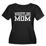 Wrestling Mom Women's Plus Size Scoop Neck Dark T-