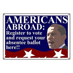 Americans Abroad: Vote! Banner
