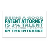 Good Patent Attorney Rectangle Sticker 10 pk)