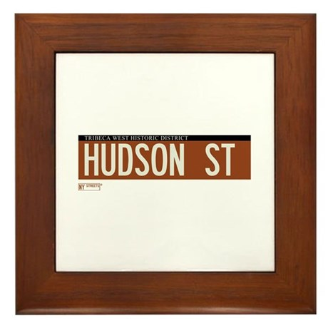 Hudson Street in NY Framed Tile