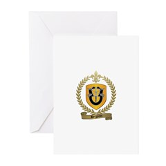 BERGERON Family Crest Greeting Cards (Pk of 10