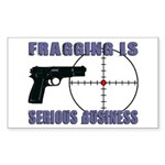 Serious Fragging Rectangle Sticker 10 pk)