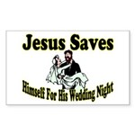 Jesus Saves Rectangle Sticker 10 pk)
