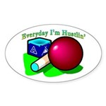 Hustle Everyday Oval Sticker (10 pk)