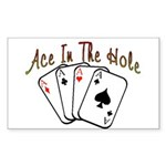 Ace Hole Rectangle Sticker 50 pk)