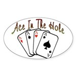 Ace Hole Oval Sticker (10 pk)