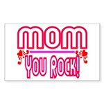 Mom You Rock Rectangle Sticker 50 pk)
