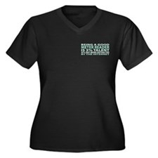 Good Meter Reader Women's Plus Size V-Neck Dark T-