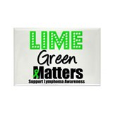 Lime Green Matters Rectangle Magnet