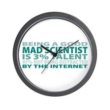 Good Mad Scientist Wall Clock