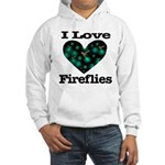 I Love Fireflies Midnight Hea Hooded Sweatshirt