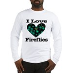 I Love Fireflies Midnight Hea Long Sleeve T-Shirt