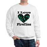 I Love Fireflies Midnight Hea Sweatshirt