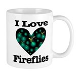 I Love Fireflies Midnight Hea Mug