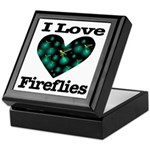I Love Fireflies Midnight Hea Keepsake Box