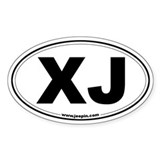 XJ Oval Bumper Stickers