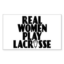 Lacrosse RealWomen Rectangle Decal