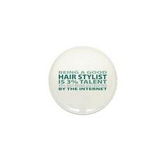 Good Hair Stylist Mini Button (10 pack)